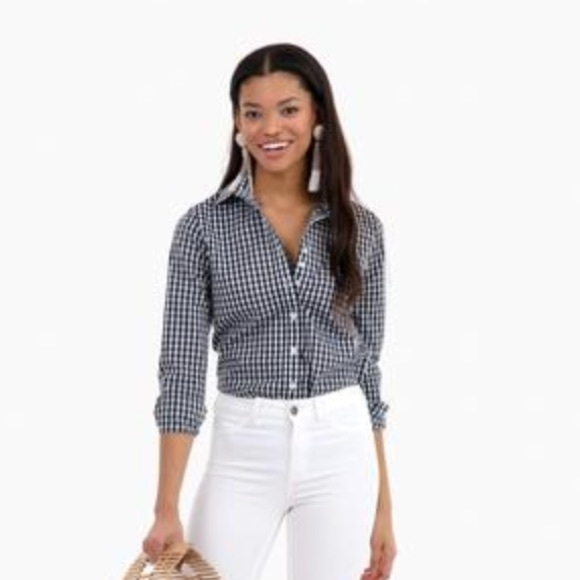 f5b700858d0301 The Shirt by Rochelle Behrens Tops | Gingham Button Down By Rochelle ...